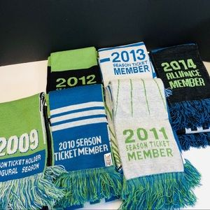 Other - Seattle Sounders Collectible Soccer Scarf set of 2